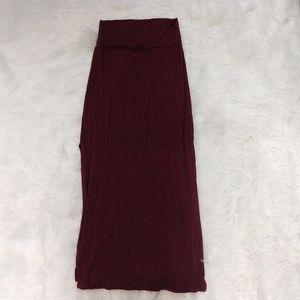 RUE21 maroon / crimson red maxi dress w/ side slit